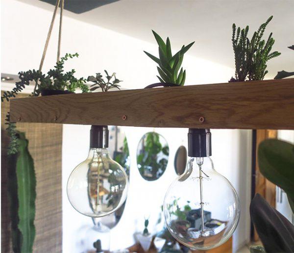 Tuto : Réalisez une superbe suspension lumineuse et végétale