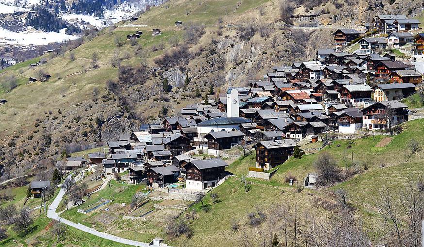 Le village d'Albinen