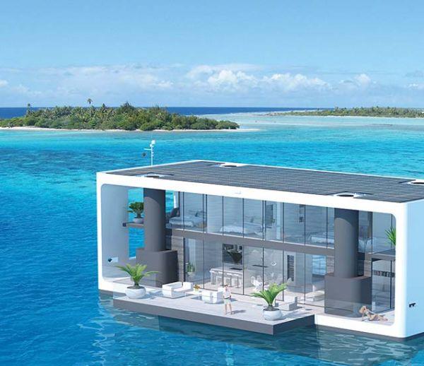 Cette maison flottante navigue et résiste aux ouragans