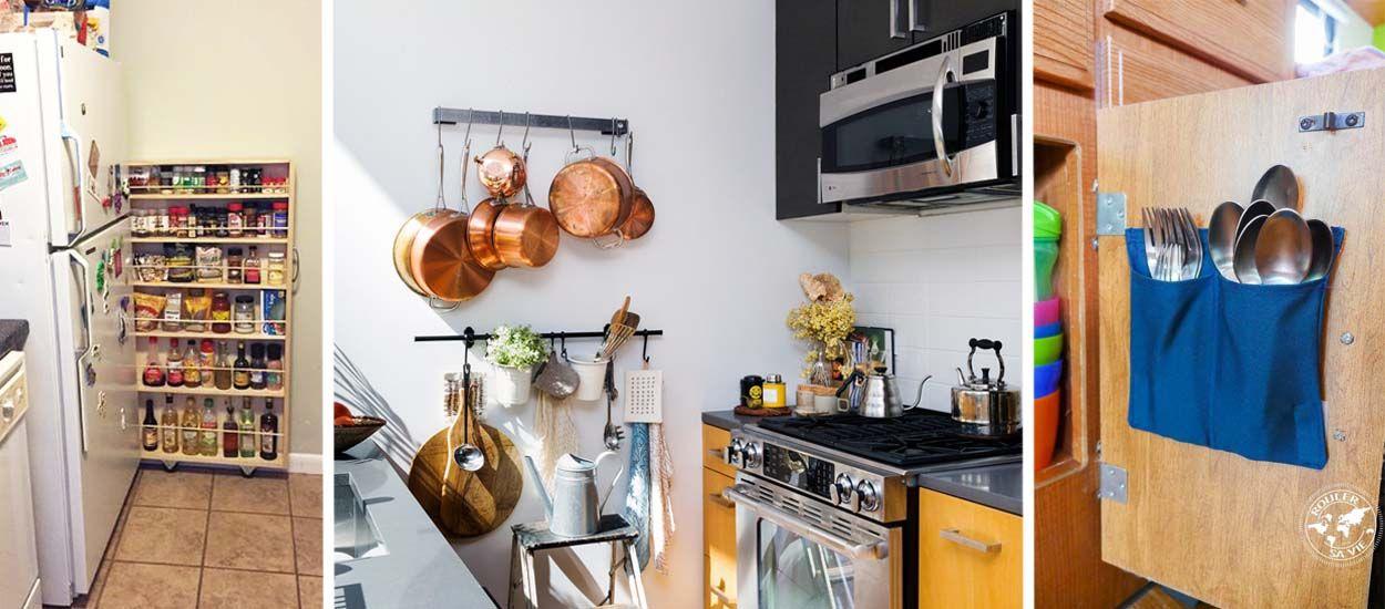 22 astuces pour am nager une mini cuisine id es rangement dans la cuisine. Black Bedroom Furniture Sets. Home Design Ideas