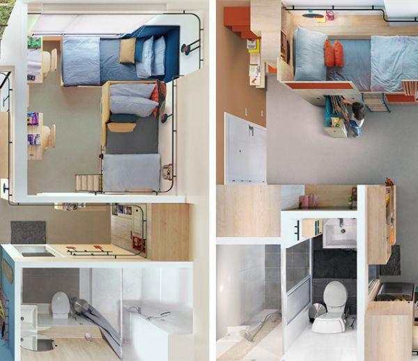 Ces appartements flexibles vont vous donner envie de vivre en colocation !