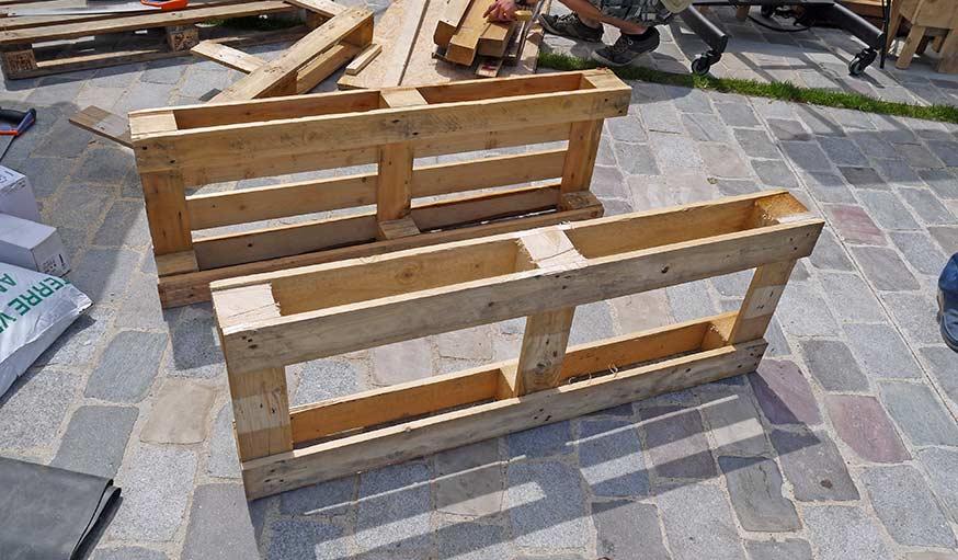 tutoriel fabriquer un hamac sur une jardini re en palette. Black Bedroom Furniture Sets. Home Design Ideas