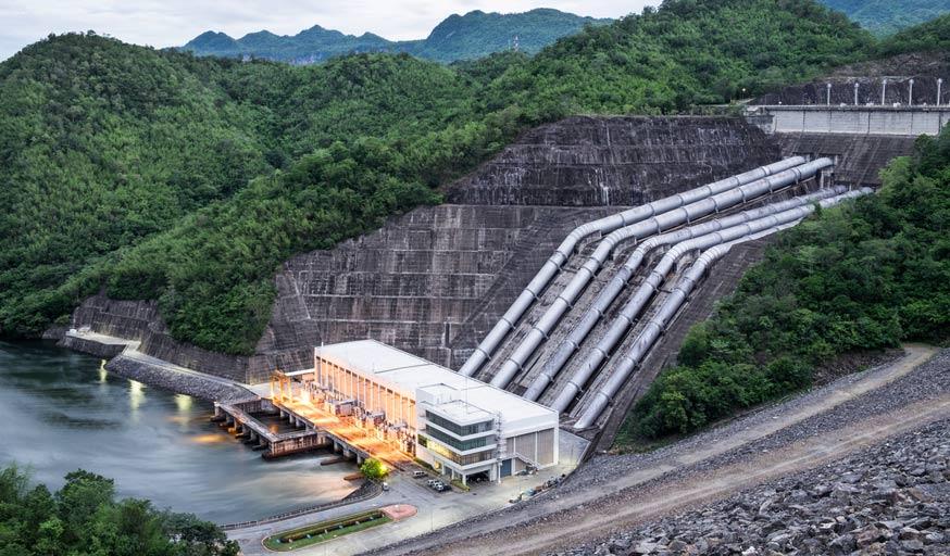 Une centrale hydroélectrique