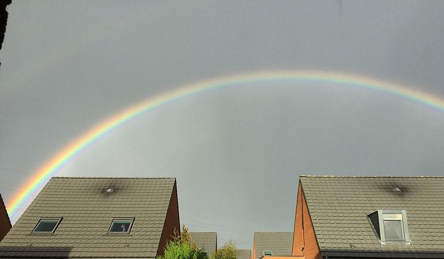 Vu sur un arc-en-ciel à Lille, le 24 octobre