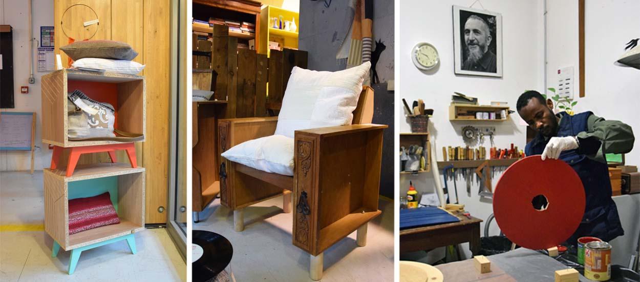 les salari es d 39 emma s d fi cr ent du mobilier r cup 39 et design. Black Bedroom Furniture Sets. Home Design Ideas