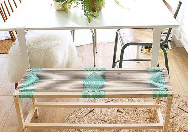 DIY pour réaliser un banc d'intérieur en bois de style