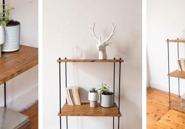 Fantastique DIY pour fabriquer une étagère industrielle en métal et bois YB-33