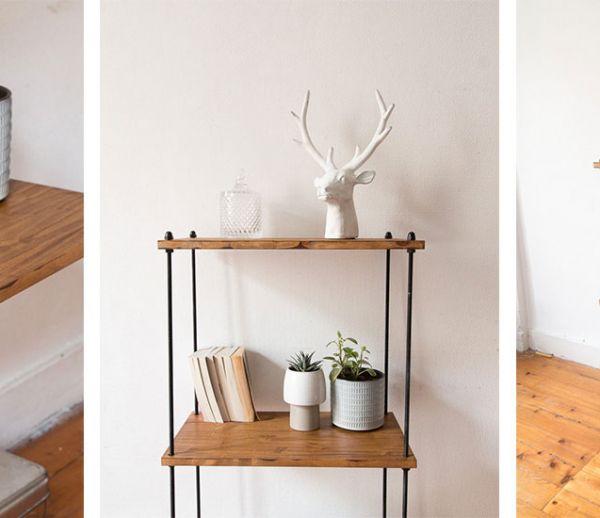 Tuto : Fabriquez une jolie étagère de style industriel !