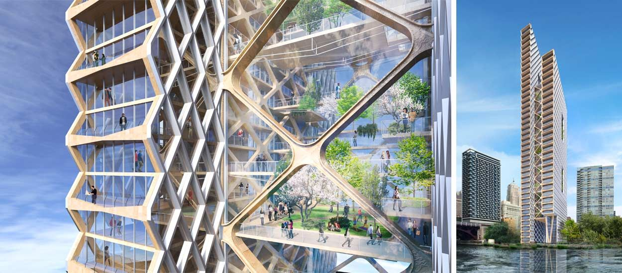 Et si l'on construisait un gratte-ciel de 80 étages entièrement en bois ?