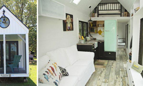 Cette superbe tiny house dispose de sa propre terrasse