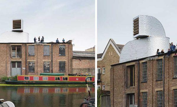 Cet étrange appartement sur les toits est déguisé en bouche d'aération