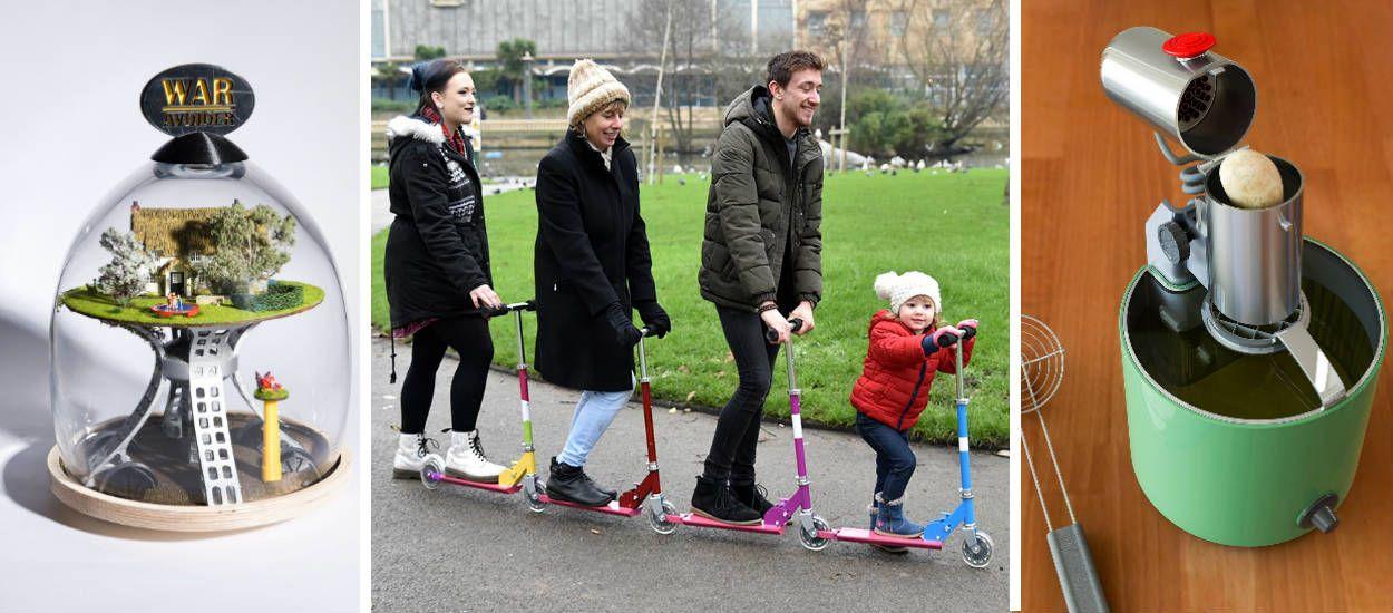 Il transforme des inventions d'enfants loufoques ou utiles en véritables objets