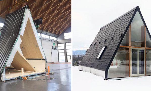 Cette drôle de maison triangulaire à 28 000 euros se construit en moins d'une journée !