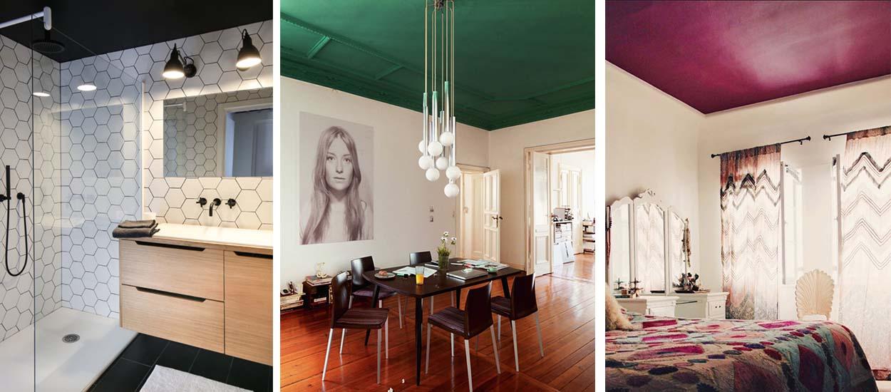 d co tendance de l 39 automne id es pour peindre son plafond en couleur. Black Bedroom Furniture Sets. Home Design Ideas