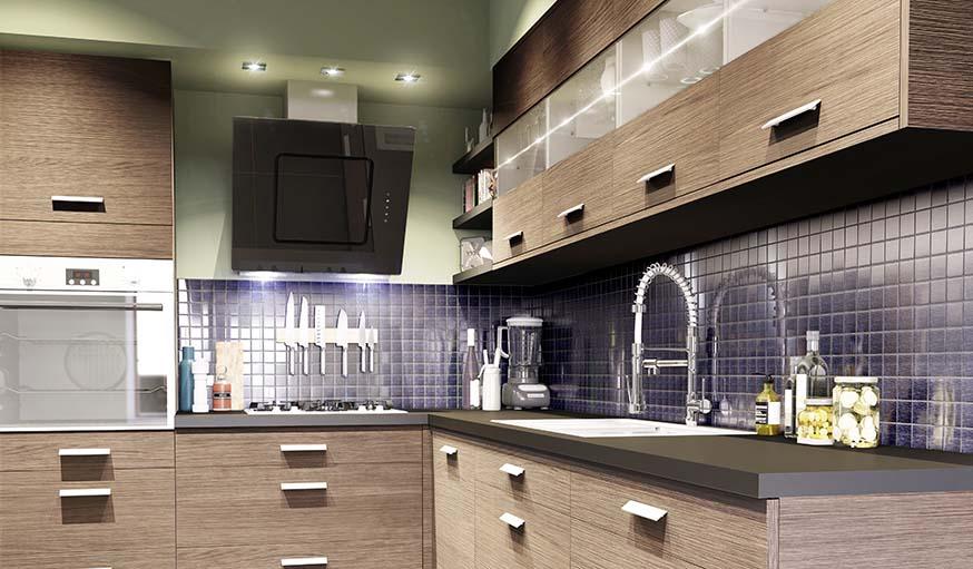 Clairage au dessus dun ilot de cuisine cool eclairage - Eclairage plan de travail cuisine castorama ...