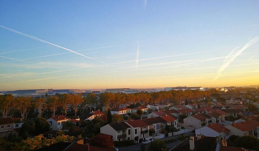 Vu sur le ciel à Colomiers en Occitanie, le 25 octobre