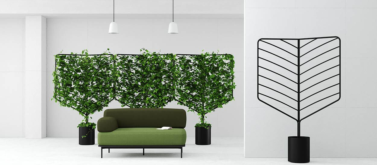 des panneaux v g taux design avec des plantes grimpantes. Black Bedroom Furniture Sets. Home Design Ideas