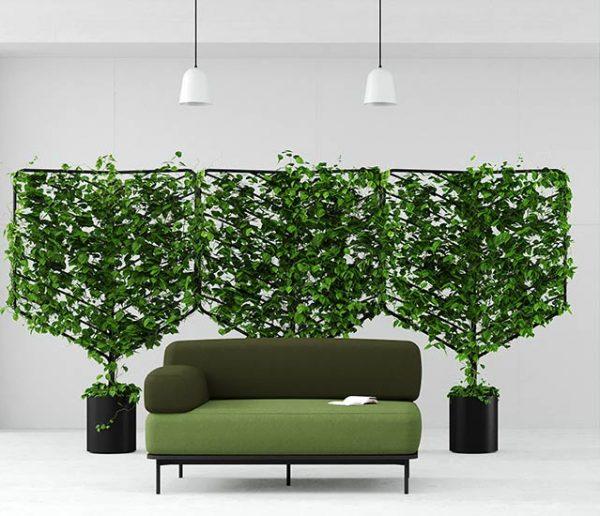 Ces panneaux végétaux forment d'élégants paravents design !