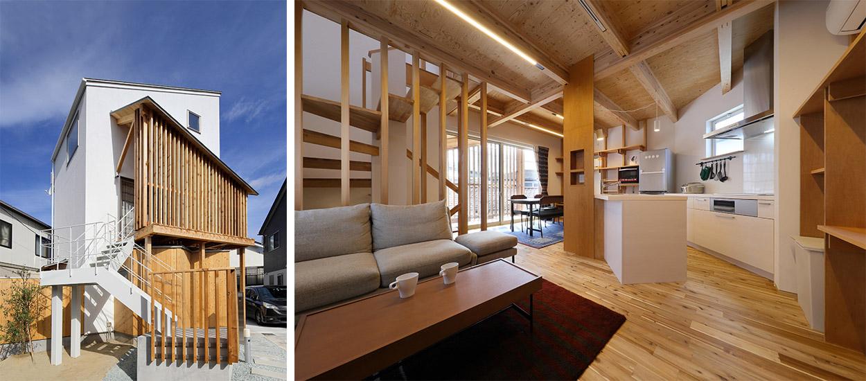 japon une maison minimaliste l 39 int rieur bois. Black Bedroom Furniture Sets. Home Design Ideas