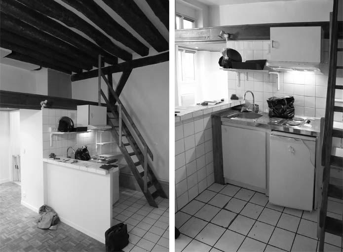 La cuisine avant les travaux.