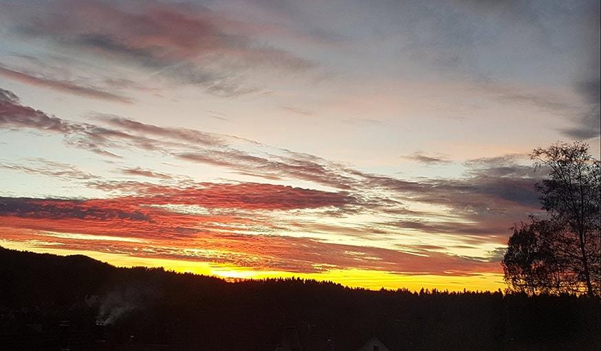 Vu sur le ciel dans le Haut-Doubs en Bourgogne-Franche-Comté, le 25 octobre
