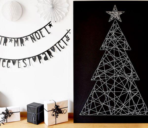 Tuto : Fabriquez un sapin de Noël graphique avec de la laine