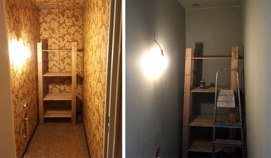 Avant / Après : ils ont transformé un cagibi de 2 m2 en salle de ...