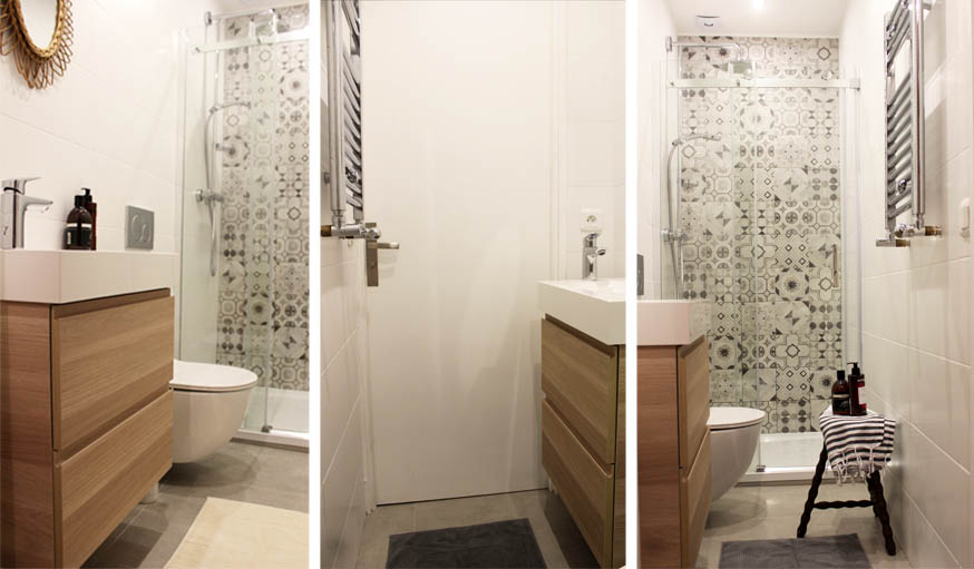 avant apr s ils ont transform un cagibi de 2 m2 en salle de bains design et pratique. Black Bedroom Furniture Sets. Home Design Ideas