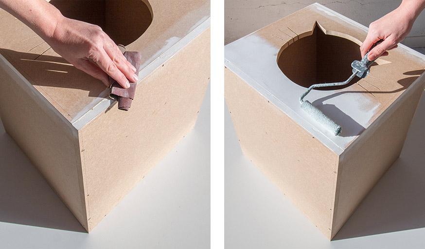 fabriquer la cachette parfaite pour votre chat une mini maison. Black Bedroom Furniture Sets. Home Design Ideas