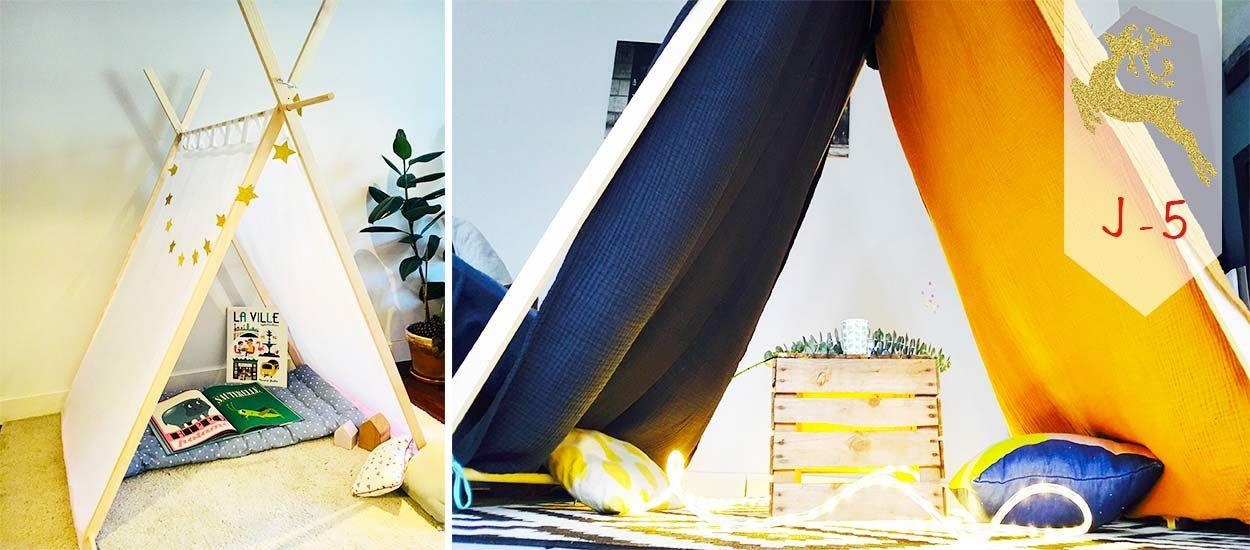 J - 5 : Tuto : Construisez une jolie tente cabane en bois pour 30 euros seulement
