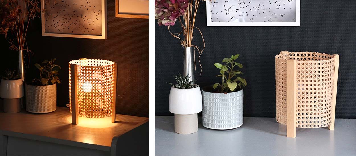 Tuto : Fabriquez une lampe en cannage vintage et tendance