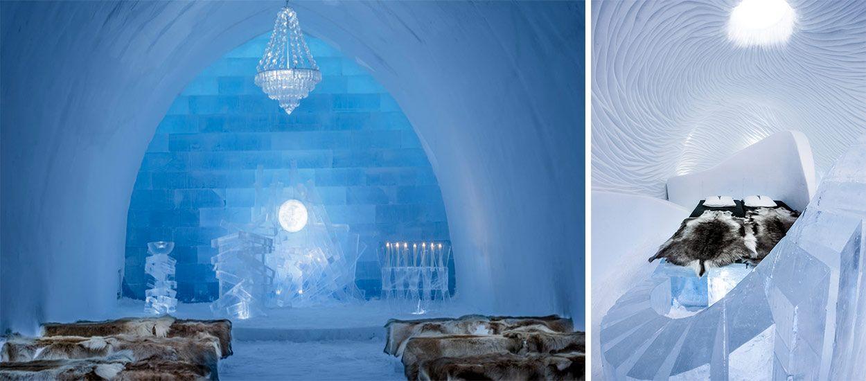 mieux qu 39 un igloo le plus grand h tel de glace du monde quelques kilom tres du cercle polaire. Black Bedroom Furniture Sets. Home Design Ideas