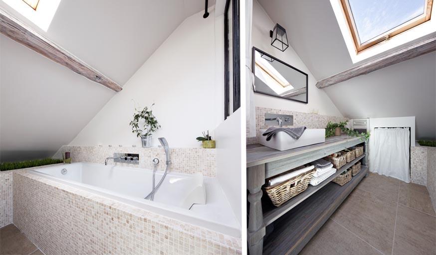9 idées à piquer à ce superbe appartement sous les combles ...