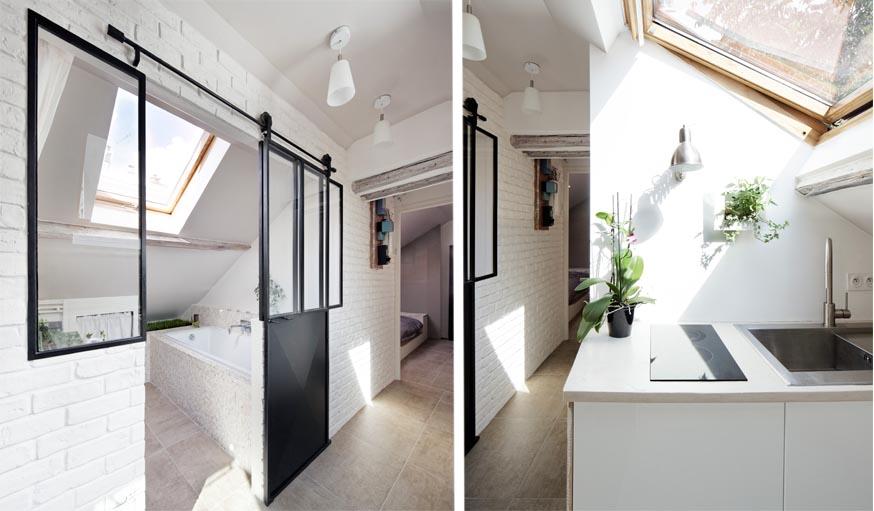 9 id es piquer ce superbe appartement sous les combles for Appartement sous les toits
