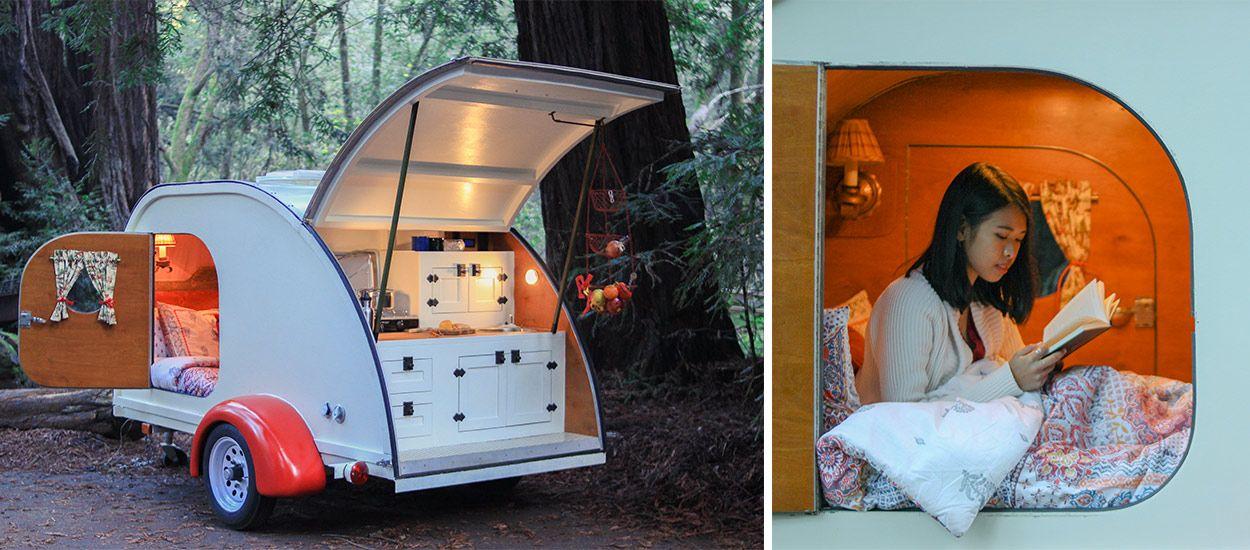 glamping voyagez dans une caravane atypique. Black Bedroom Furniture Sets. Home Design Ideas