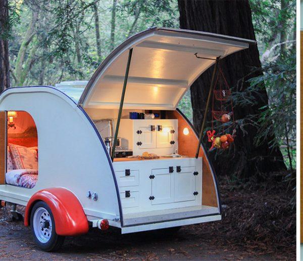 Cette caravane minimaliste au charme fou va vous donner des envies de voyage