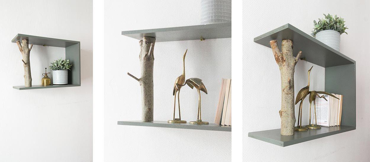 Tuto : fabriquez une étagère design avec une branche d'arbre