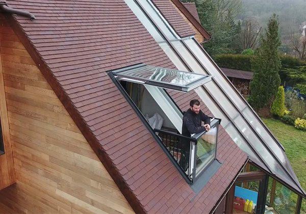 Une Fenêtre Qui Se Transforme En Balcon Sur Votre Toit Cest Possible