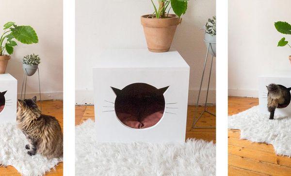 Tuto : Fabriquez une adorable petite maison pour votre chat