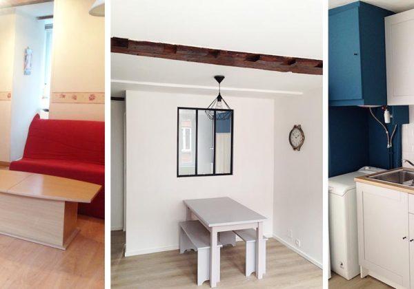 Avant Apres Elle A Renove Un Studio Vieillot En Deux