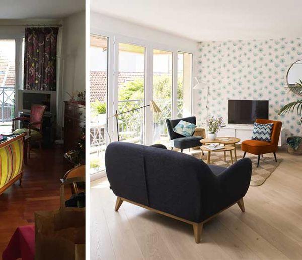 Avant / après : un vent de modernité souffle sur cet appartement rénové