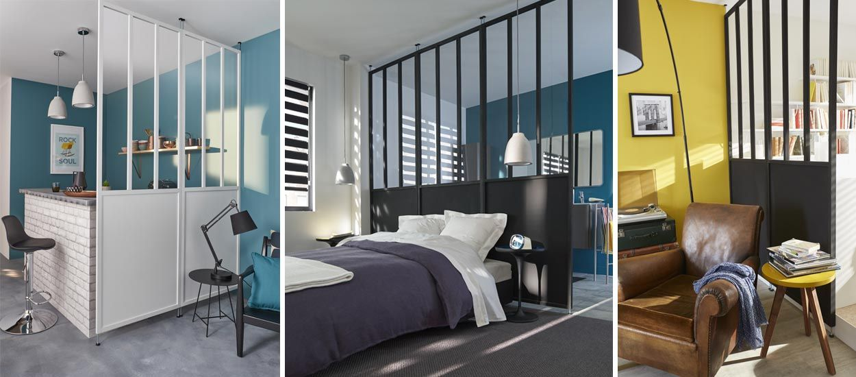 et si vous optiez pour une cloison verri re en guise de verri re d 39 atelier. Black Bedroom Furniture Sets. Home Design Ideas