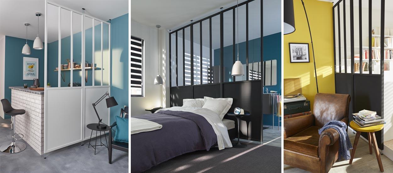 et si vous optiez pour une cloison verri re en guise de verri re d 39 atelier. Black Bedroom Furniture Sets. Home Design Ideas