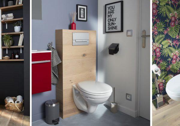 Déco : 7 habillages pour des toilettes suspendues originales