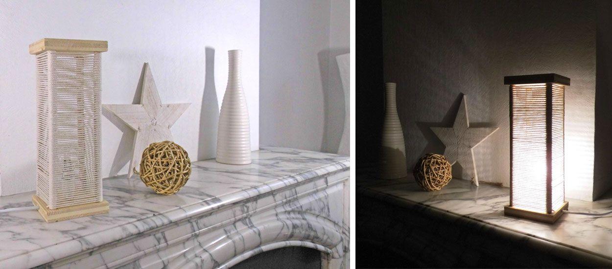 Tuto : Fabriquez une jolie lampe ficelle pour moins de 20 euros