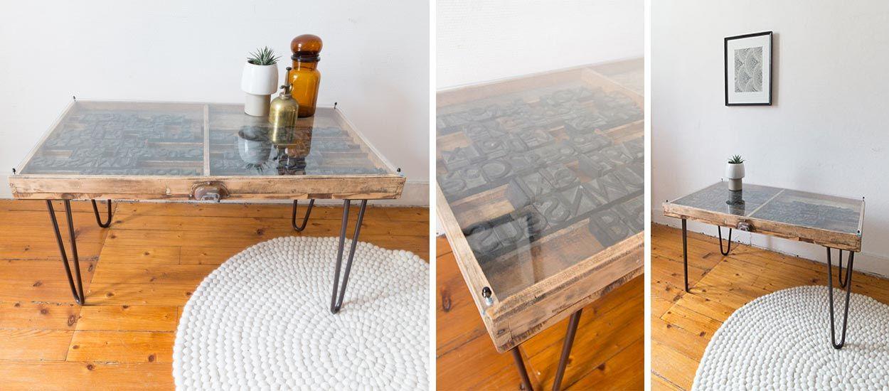 Tuto : Fabriquez une table basse industrielle avec une table d'imprimeur