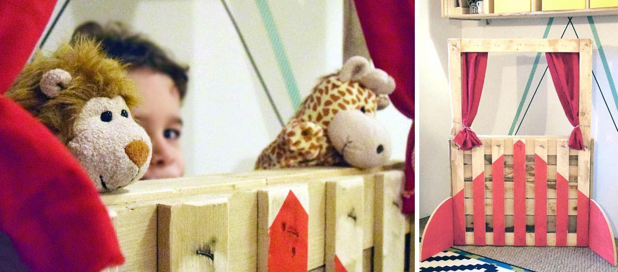 Tuto : fabriquez un théâtre de marionnettes en palette