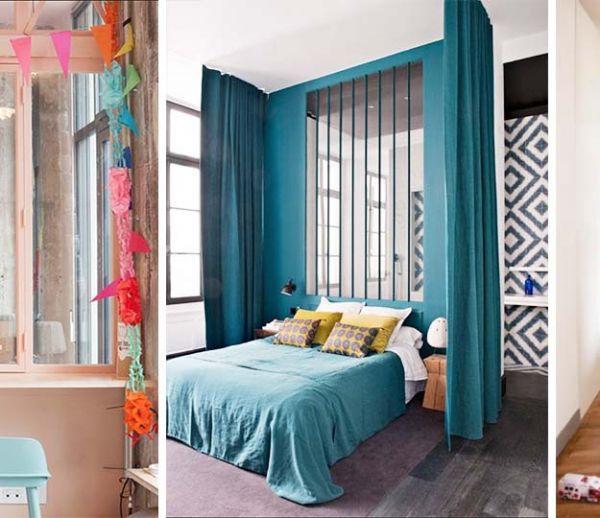 10 verrières d'intérieur colorées pour un intérieur pop et acidulé