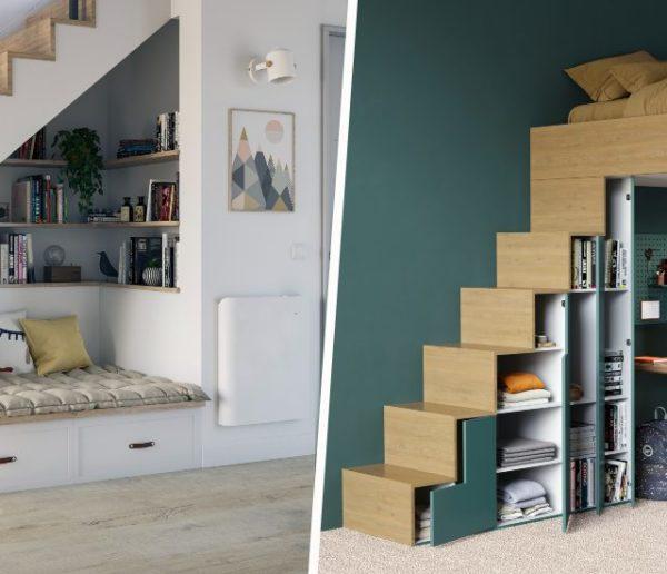 20 idées brillantes pour optimiser l'espace sous l'escalier