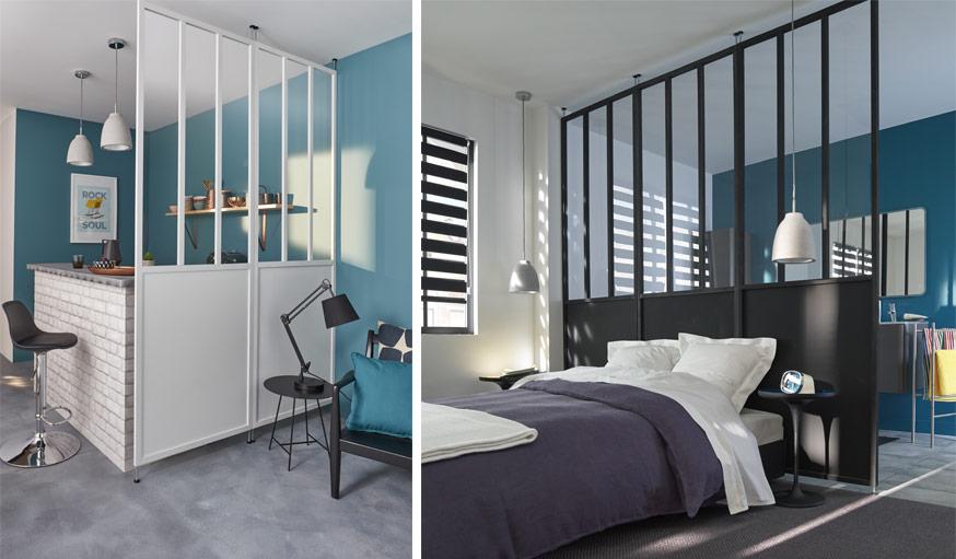 et si vous optiez pour une cloison verri re en guise de. Black Bedroom Furniture Sets. Home Design Ideas